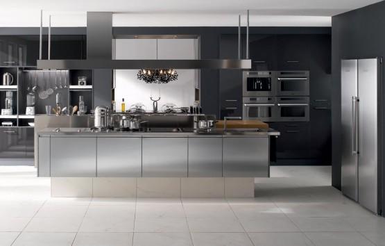 Tendances 2014 d couvrez les nouvelles cuisines design for Cuisine noir et inox