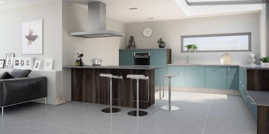 Quelle couleur pour votre cuisine quip e cuisine for Cuisine equipee bleu