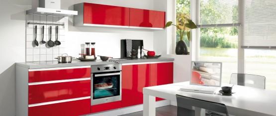 Deco cuisine rouge et blanche - Quelle couleur pour une cuisine blanche ...