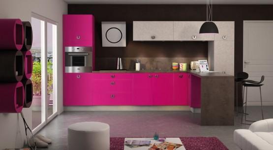 Quelle couleur pour votre cuisine quip e cuisine blanche cuisine rouge noire ou orange - Decoration de cuisine 2015 en rose ...