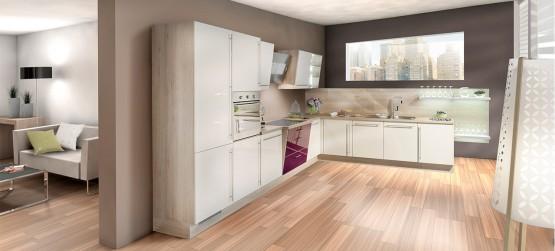 Cuisine blanche 10 mod les de cuisines lumineuses et for Quelle couleur mettre pour une cuisine amenagee blanche
