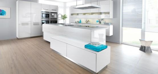 Cuisine blanche 10 mod les de cuisines lumineuses et ind modables le blog d co cuisine Cuisine laquee blanche
