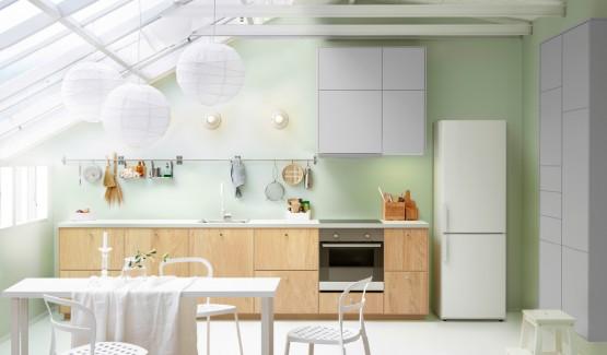Cuisine blanche 10 mod les de cuisines lumineuses et for Cuisine ikea blanche et bois