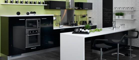 Cuisine noire du contraste pour un style chic et moderne for Model cuisine equipee