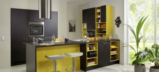 Quelle couleur pour votre cuisine quip e cuisine - Cuisine jaune et grise ...