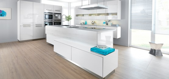 Cuisine blanche 10 mod les de cuisines lumineuses et for Modele de cuisine blanche