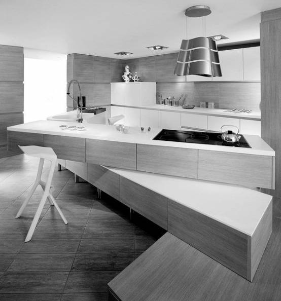 Minimalistic Modern Luxury Kitchen Island Design With: Cuisine Originale : 10 Exemples En Images