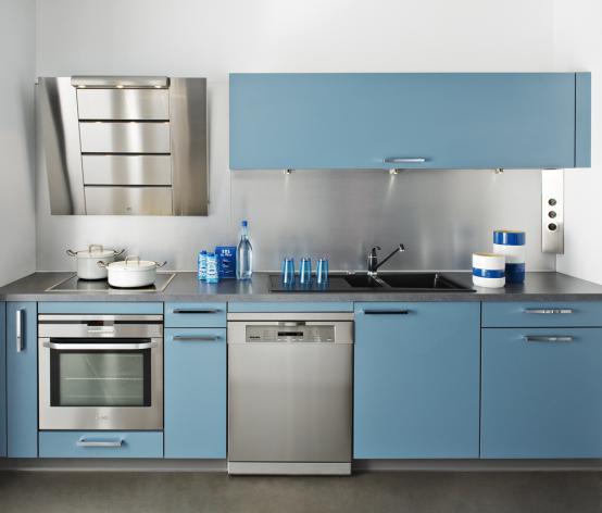 Les cuisines tout en couleur quel ton choisir pour ma for Cuisine bleu mat