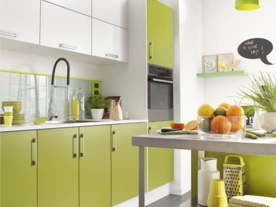 Les cuisines tout en couleur : quel ton choisir pour ma cuisine ...
