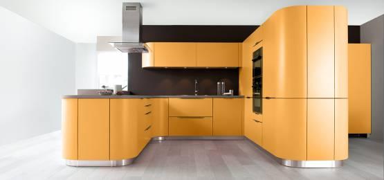 Cuisine couleur jaune orange